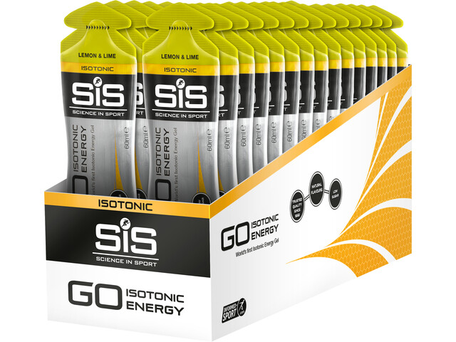 SiS GO Isotonic Energy Gel Box 30x60ml Zitrone und Limette